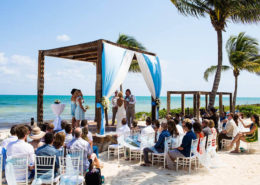beach wedding ideas for ceremony under canopy
