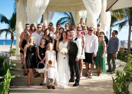 All attendees at destination wedding in Mexico - planned in Calgary, Alberta.