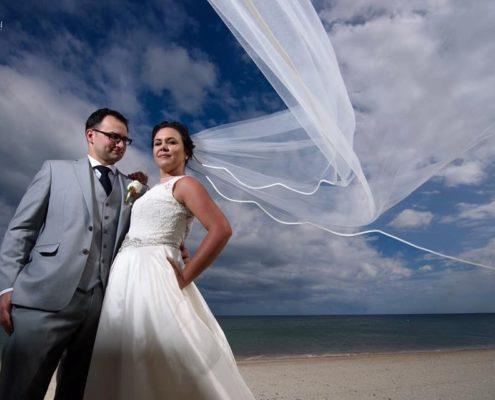 Beach weddings and traditional wedding dresses