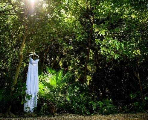 Tropical and beach weddings, such as destination weddings, may require you to think beyond the traditional light, breezy wedding dresses.