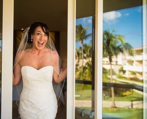 Calgary bride is excited for her tropical beach wedding
