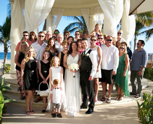 wedding party portrait in Cabo
