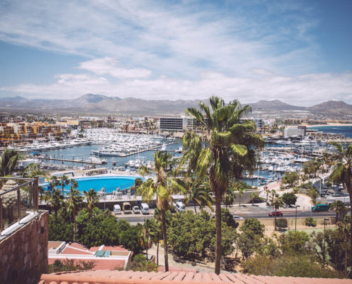 overlooking Cabo
