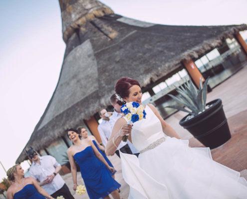 bride and bride's maids