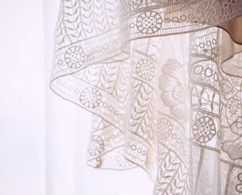wedding dress lace close up