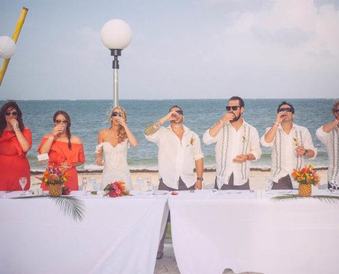 head table at wedding cheers